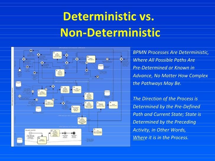 Deterministic vs.  Non-Deterministic BPMN Processes Are Deterministic, Where All Possible Paths Are  Pre-Determined or Kno...