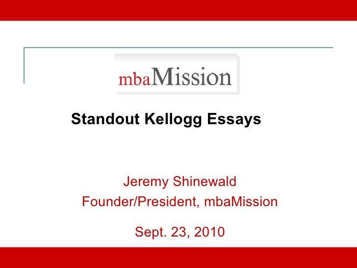 Kellogg mba apply essays