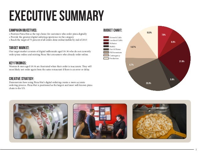 executive summary pizza e birra Business demographics and goals of hell pizza executive summary print reference this   in hell pizza hornby store, manager will e-mail the roster to every .