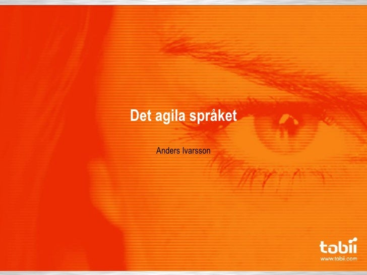 Det agila språket      Anders Ivarsson