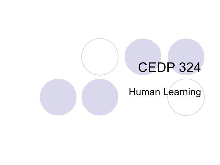 CEDP 324 Human Learning