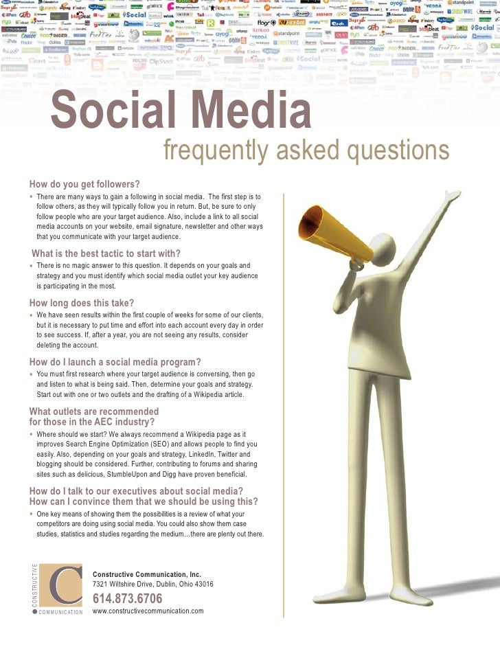 Social Media                                                                  frequently asked questions How do you get fo...