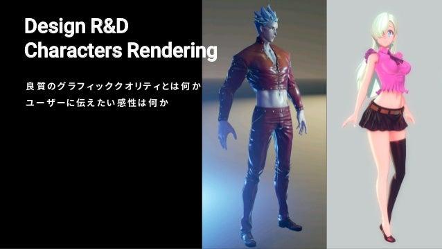 "Character Rendering (reference) — 原作そのままのキャラクターモデリング — 漫画/アニメのような""線(Line)""を強調 — 意図的な比率を使用"