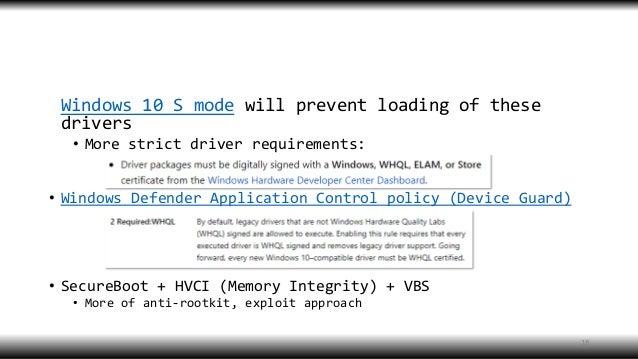 BlueHat v18 || Return of the kernel rootkit malware (on windows 10)
