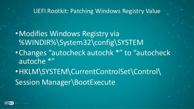 Prevention •Enable Secure Boot •Keep your UEFI firmware up-to-date •Make sure you have modern chipsets (PCH) •Hope that yo...