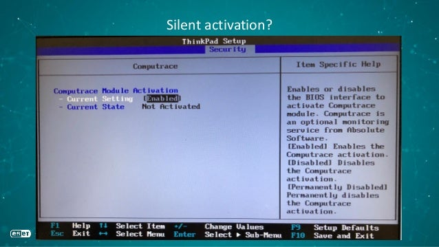 Silent activation?