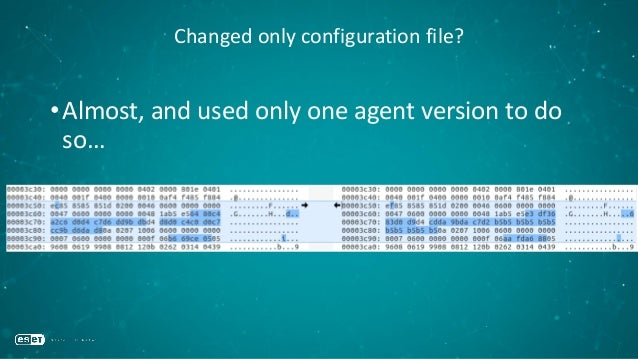 Changed only configuration file? •Almost, and used only one agent version to do so…