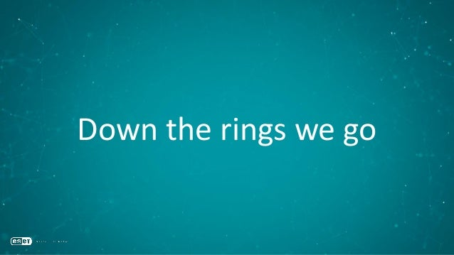 Down the rings we go