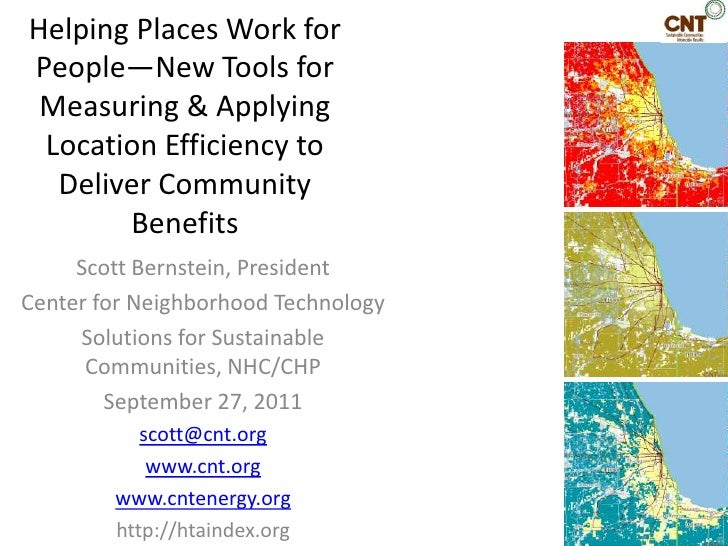 Helping Places Work for People—New Tools for Measuring & Applying Location Efficiency to Deliver Community Benefits<br />S...