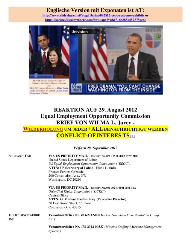 Englische Version mit Exponaten ist AT:                  http://www.slideshare.net/VogelDenise/092812-eeoc-response-exhibi...