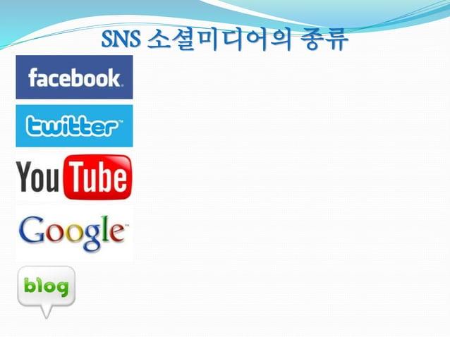 SNS 소셜미디어의 종류