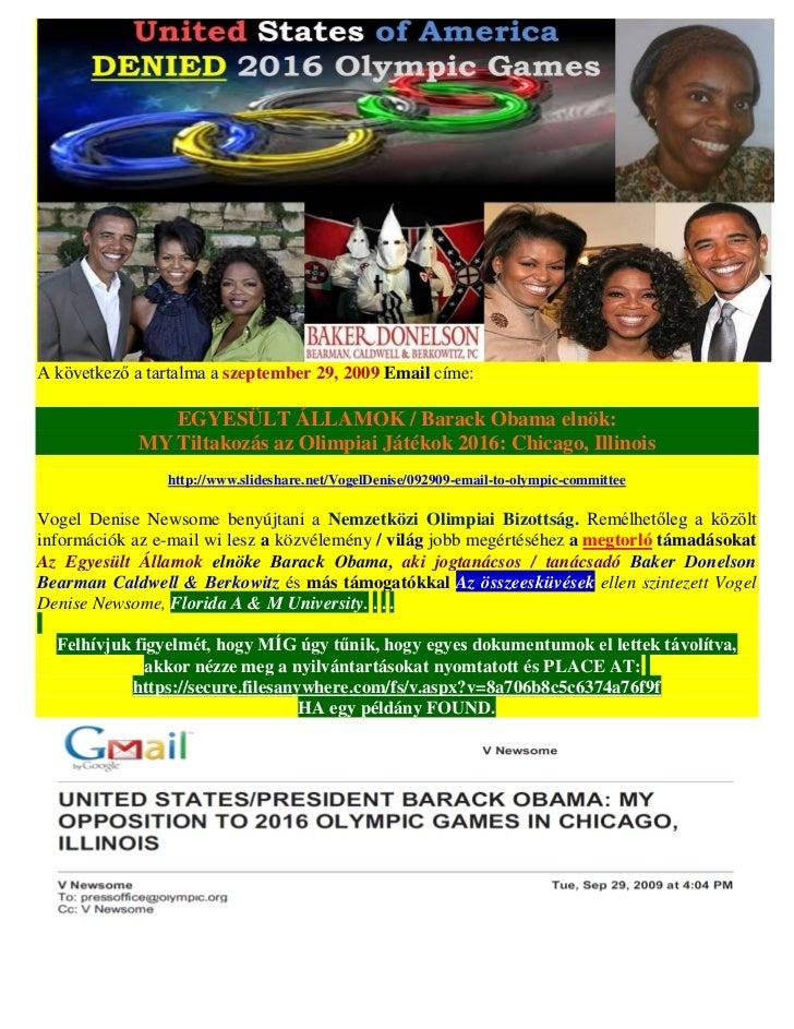 A következő a tartalma a szeptember 29, 2009 Email címe:               EGYESÜLT ÁLLAMOK / Barack Obama elnök:            M...
