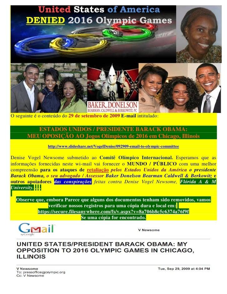 O seguinte é o conteúdo do 29 de setembro de 2009 E-mail intitulado:          ESTADOS UNIDOS / PRESIDENTE BARACK OBAMA:   ...
