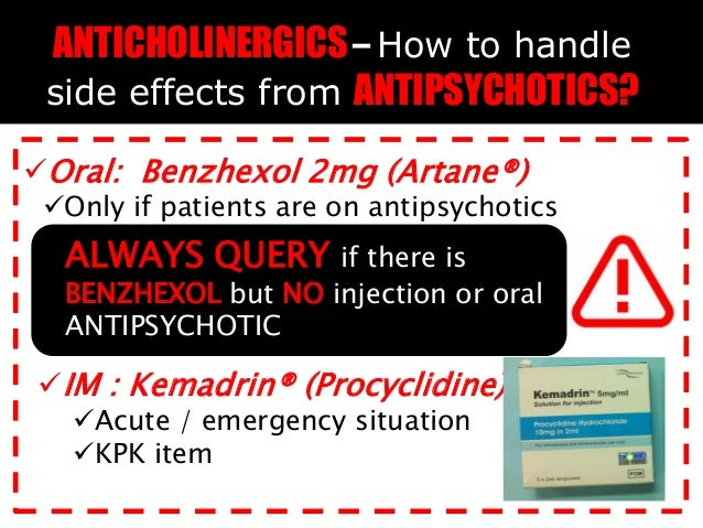 Procyclidine Side Effects