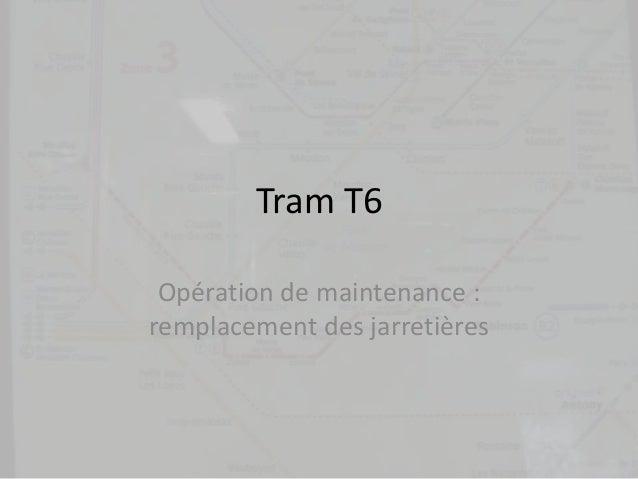 Tram T6 Opération de maintenance : remplacement des jarretières