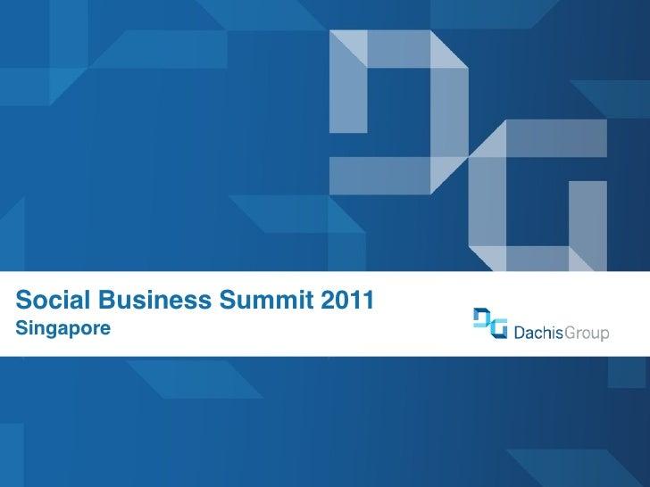 Social Business Summit 2011Singapore