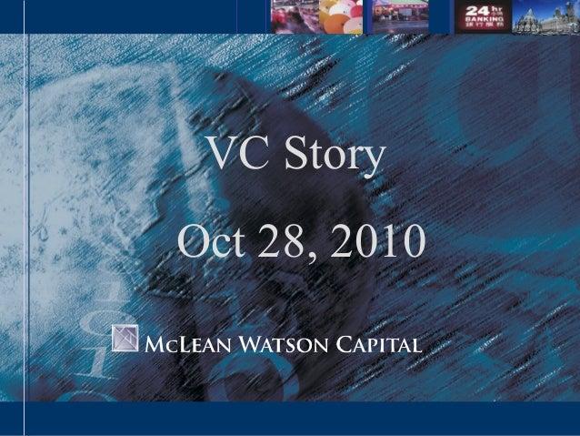 VC Story Oct 28, 2010