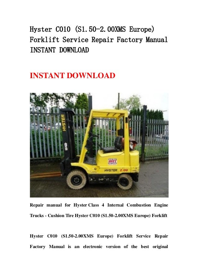 Hyster C010  S1 50