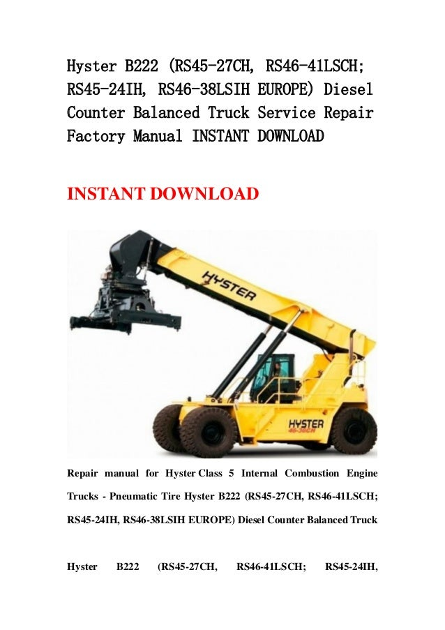 Hyster B222  Rs45