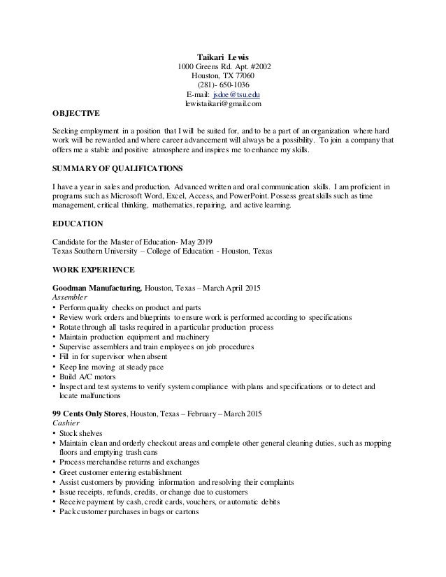 Administration CV template examples