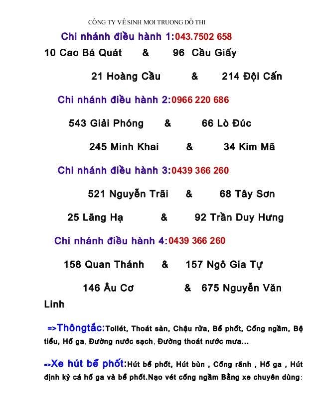 Hút bể phốt tại Bắc Ninh, Thông tắc cống LH:0944388579 Slide 2