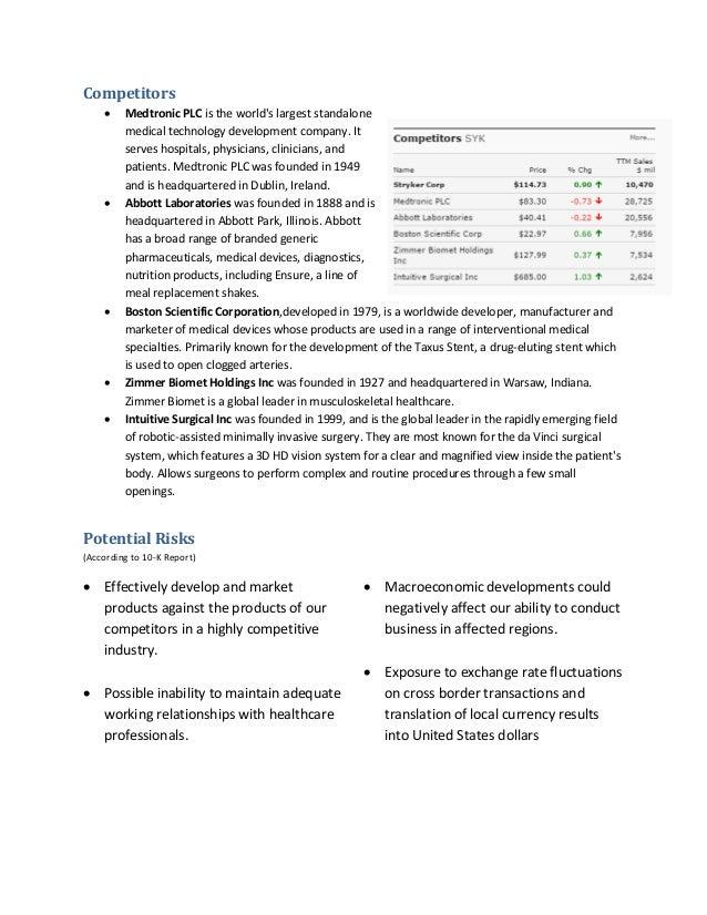 Stryker SWOT Analysis