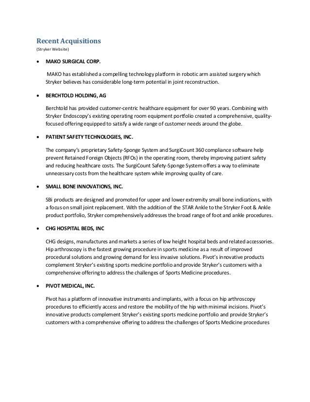 stryker analysis Reseach paper running head: strategic management – stryker stryker: strategic management orm 680: capstone in strategic management jaspreet kaur (jas.