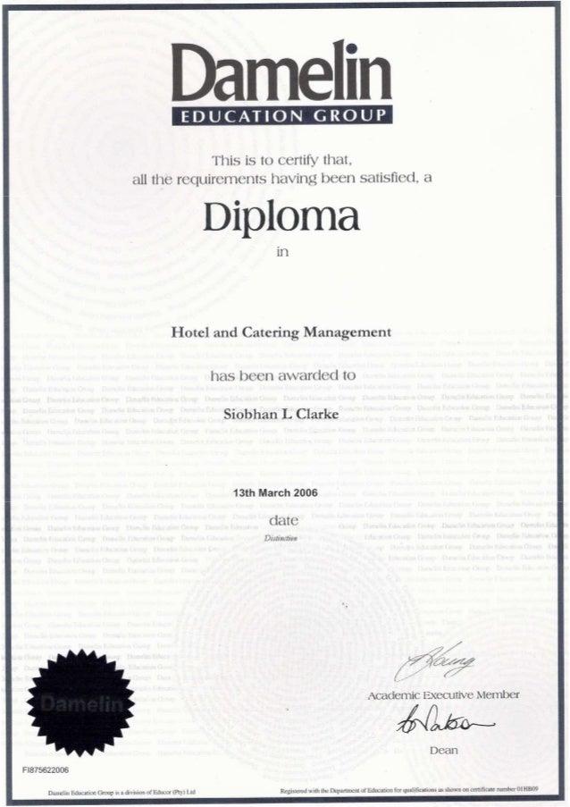 management diploma hotel management diploma