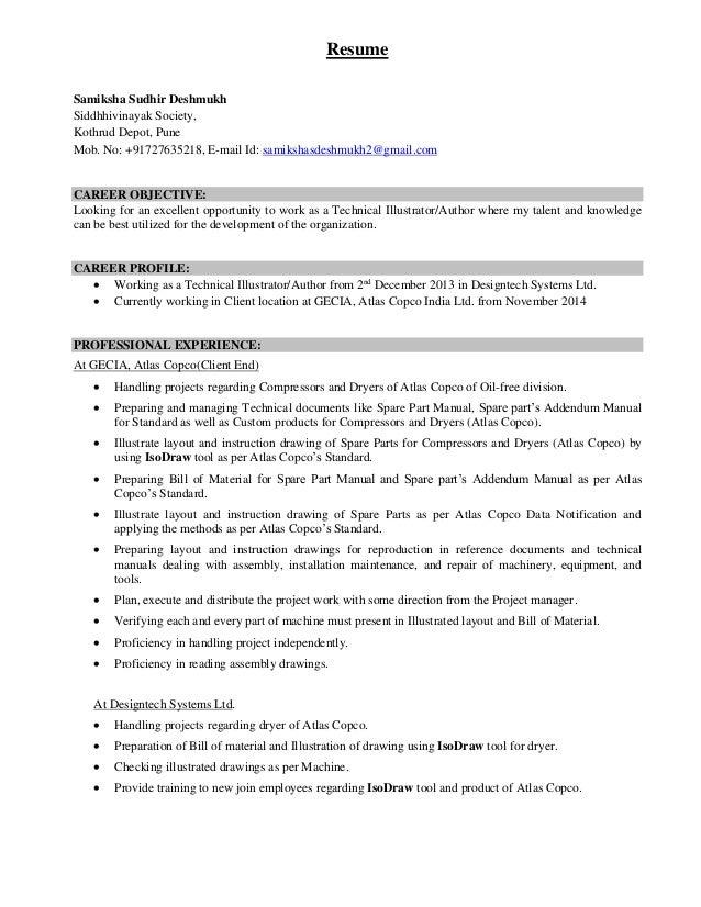 Resume Samiksha Sudhir Deshmukh Siddhhivinayak Society, Kothrud Depot, Pune Mob. No: +91727635218, E-mail Id: samikshasdes...