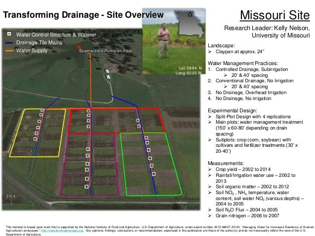 Managing Water for Increased Resiliency of Drained Agricultural Lands…