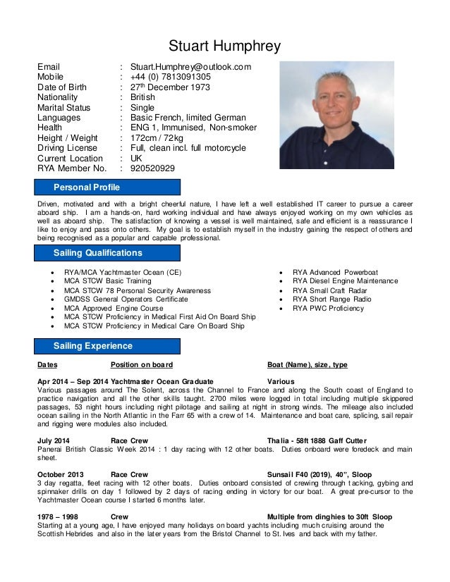 stuart humphrey yachting cv oct 1st 2014e