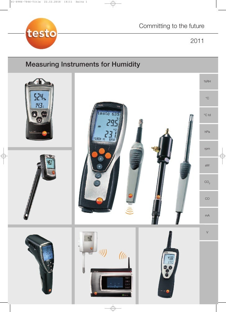 Committing to the future                                                   2011Measuring Instruments for Humidity         ...