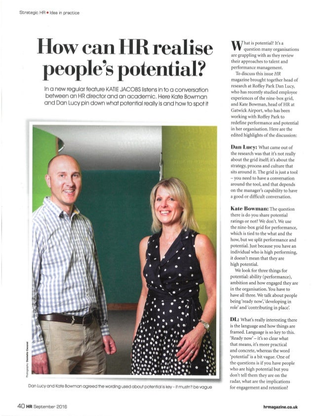 HR Magazine - Sep 16 - How can HR realise people'e potential