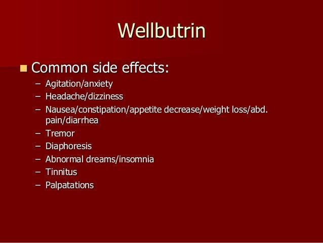 Wellbutrin side affect