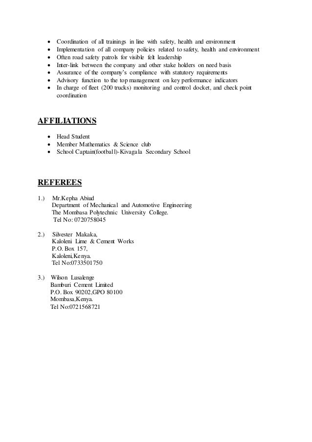 accident related incidences 4 valet parking resume sample