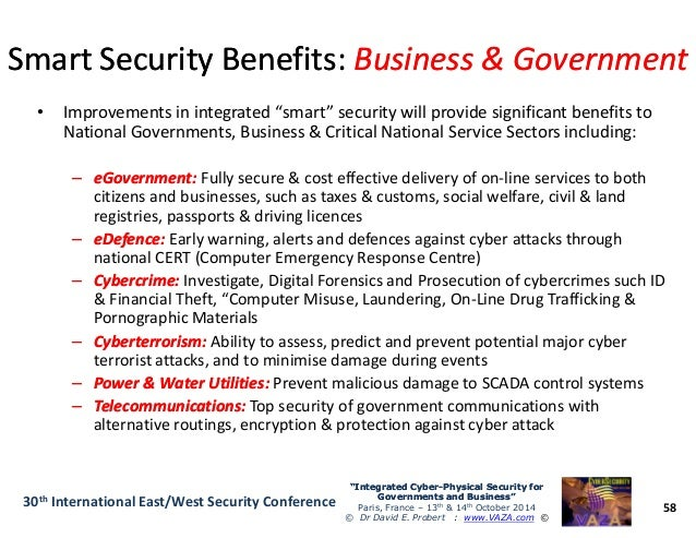 Integrated Physical And Cybersecurity For Governments And Business