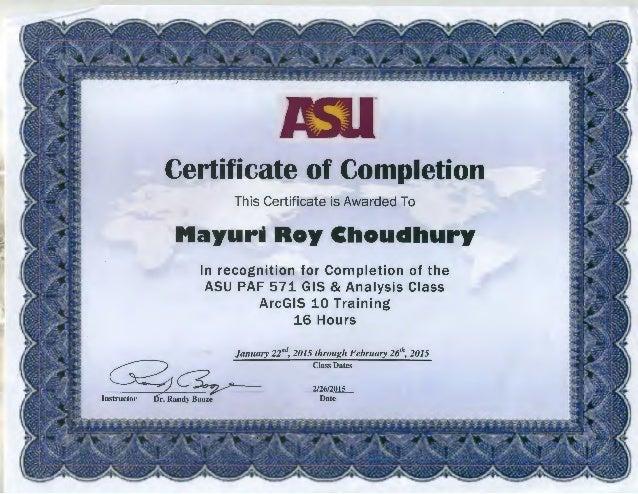 certificate gis asu slideshare upcoming