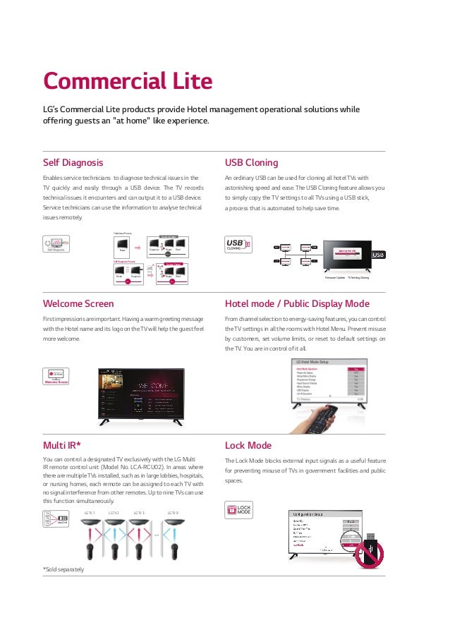 2014 LG Commercial TV Catalogue