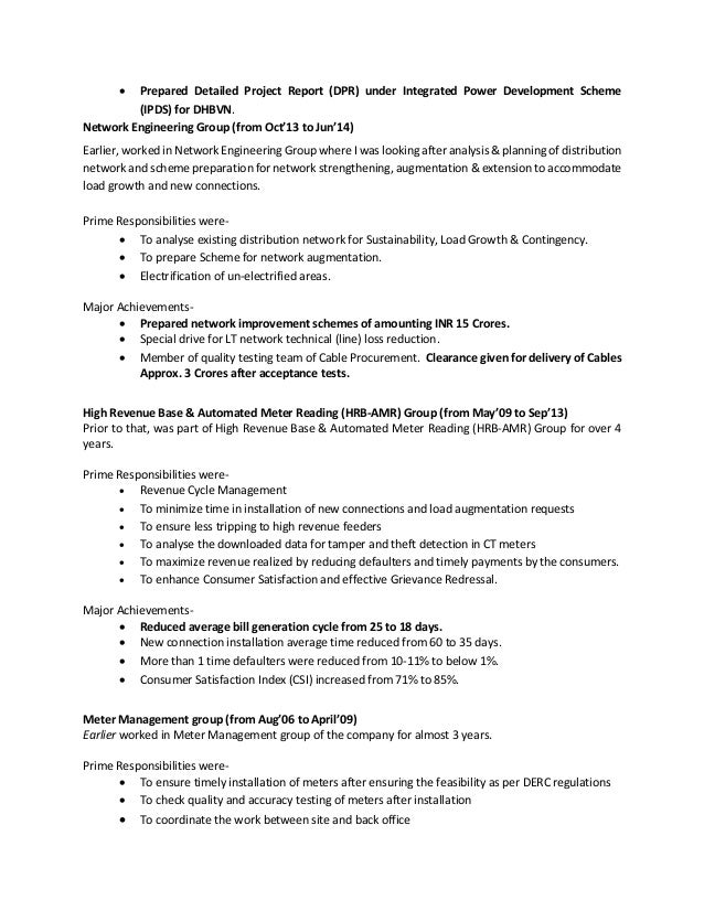 Distribution planner resume