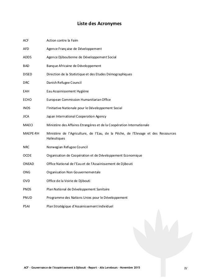 Rapport alix gouvernance djibouti externe - Office internationale de l eau ...