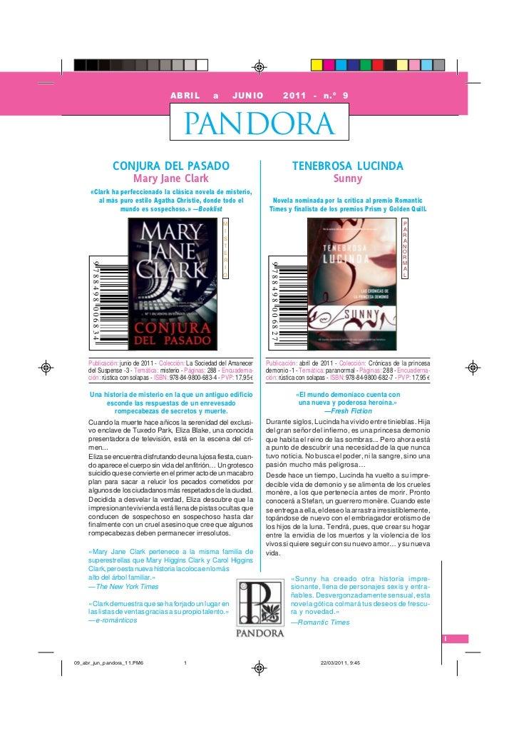 ABRIL            a       JUNIO                          2011 - n.º 9                                          PANDORA     ...