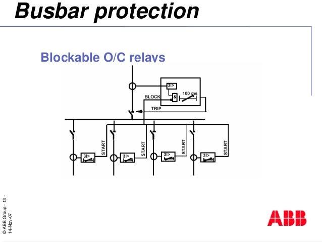 bus bar protection