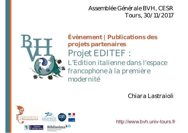 Évènement | Publications des projets partenaires Projet EDITEF : L'Edition italienne dans l'espace francophone à la premiè...