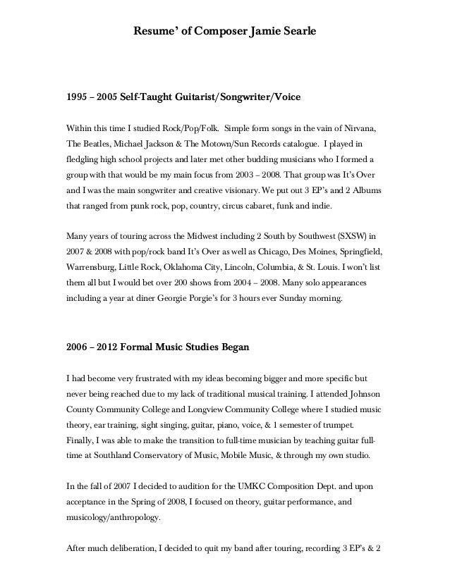 master cv resume