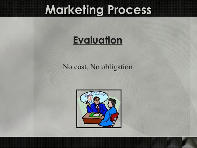 Marketing ProcessMarketing Process Evaluation No cost, No obligation