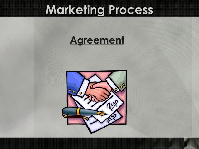 Marketing ProcessMarketing Process Agreement