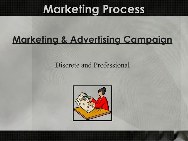 Marketing ProcessMarketing Process Marketing & Advertising Campaign Discrete and Professional