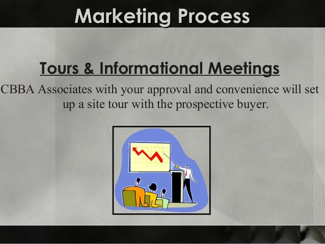 Marketing ProcessMarketing Process Tours & Informational Meetings CBBA Associates with your approval and convenience will ...