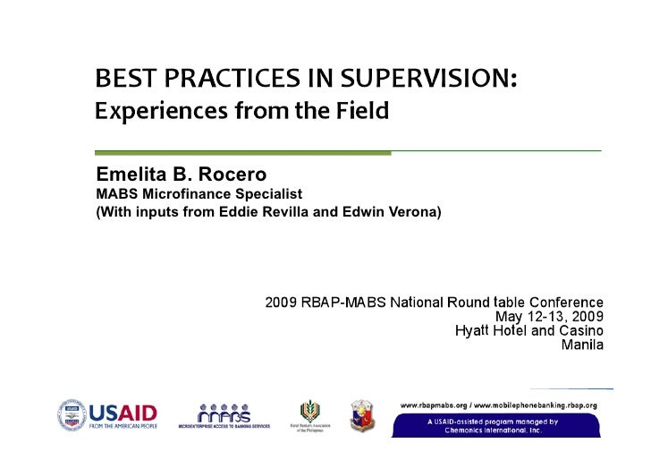 Emelita B. Rocero MABS Microfinance Specialist (With inputs from Eddie Revilla and Edwin Verona)