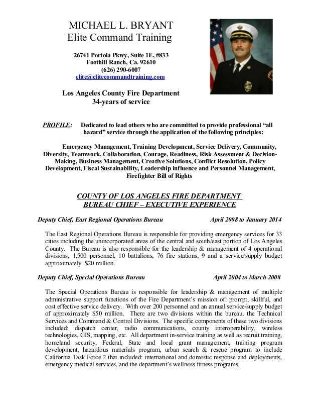 fire department resume - Selo.l-ink.co